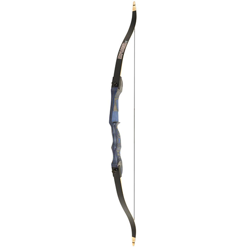 OMP Explorer CE Recurve Bow 54 in. 25 lbs. Blue LH