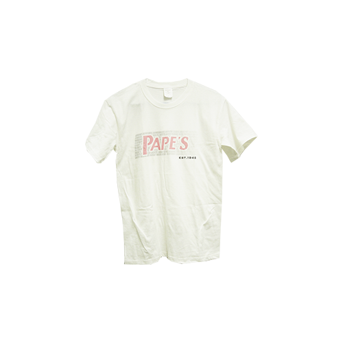 Papes White Short Sleeve Tshirt Pink Fade XL