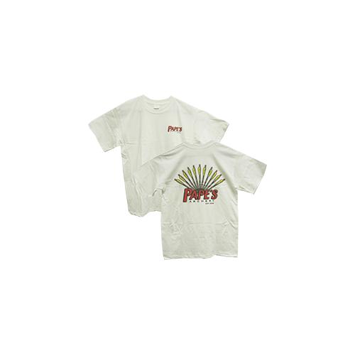 Pape's Short Sleeve Tshirt White w/Arrow Design 2X