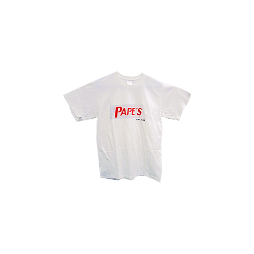 Papes White Short Sleeve Tshirt Red Fade 2X