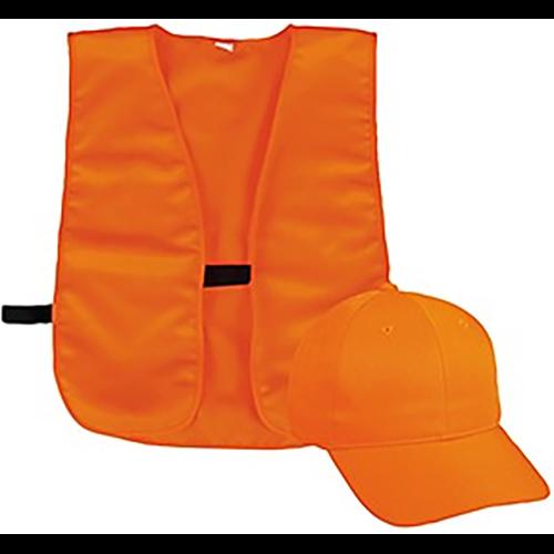 Youth Cap & Vest Combo Blaze Orange