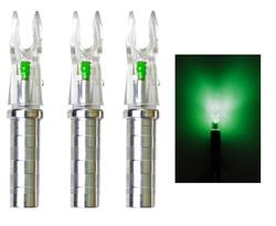 Ignitor Lighted .244/.246 Green Nock S/GT Nock Arrows(50hr Bulb