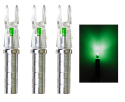 Ignitor Lighted .204 Green Nock For X Nock Arrows (50hr Bulb)