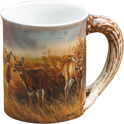 Wild Wings Sculpted Mug Meadow Mist Whitetail