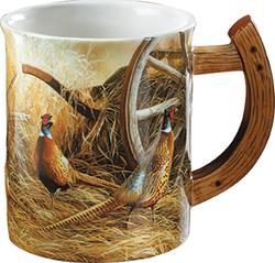 Wild Wings Sculpted Mug Autumn Glow Pheasants