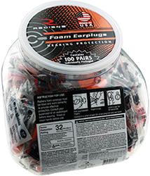Radians Resistor 32 Foam Ear Plugs Uncorded Orange 100pr Jar