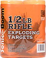 * Sonic Boom Exploding Rifle Targets 1/2 lb 4pk