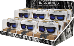Category: Dropship Eyewear, SKU #1002864, Title: Ingrained Sustainable Sunglass Display 2 Tier Tray 12pc