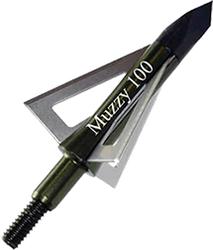 """Muzzy 100gr 3 Blade 1 3/16"""" Crossbow Broadhead"""