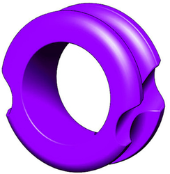 "G5 Meta Peep Pro Hunter 1/4"" Purple"