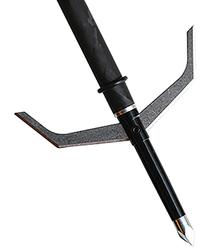 """Vortex 100gr 2-3/4"""" Cut 2 Blade Black w/Steel Trocar Tip"""