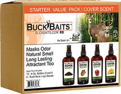 Buck Bait Cover Scent Start Kit Earth/Acorn/Apple/Corn 3 ea.