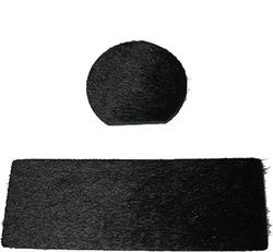 Cir-Cut Traditional Rest Kit Black Calf Hair 2 pc.
