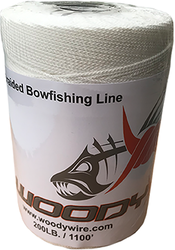 Woody Wire Bowfishing Braided Line 1,100ft