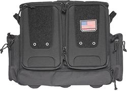 GPS Tactical Rolling Range Bag Black 10 Handguns