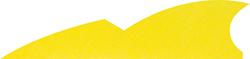 Gateway Batwing Feathers Flo Yellow 2 in. RW 50 pk.
