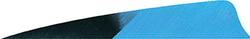 Gateway Shield Cut Feathers Kuru Blue 4 in. RW 50 pk