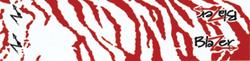 Blazer Wraps White/Red Tiger
