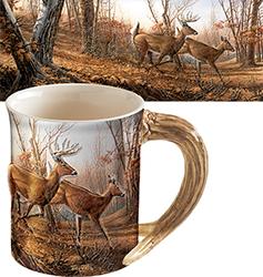 Wild Wings Sculpted Mug Autumn Run
