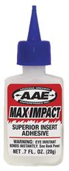 * AAE Max Impact Insert Glue .7 oz.