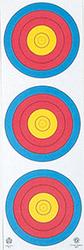 Maple Leaf Vertical Target 3-Spot 25 pk.
