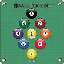 Arrowmat Foam Target Face 9 Ball Shootout 17x17 in.