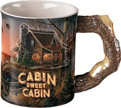 Wild Wings Sculpted Mug Cabin Sweet Cabin