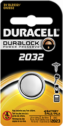 * Duracell Lithium Coin Battery 2032 1 pk.