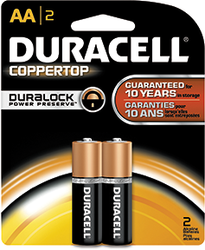 Duracell Coppertop Battery AA 2 pk.
