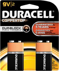 Duracell Coppertop Battery 9 Volt 2 pk.