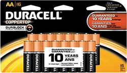 Duracell Coppertop Battery AA 16 pk.
