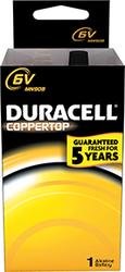 Duracell Coppertop Battery 6 Volt 1 pk.