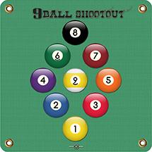 Arrowmat XL Foam Target Face 9 Ball Shootout 34x34 in.