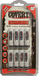 * Covert Reghargeable Batteries 12 pk.