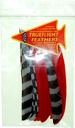 Trueflight Feather Combo Pack Barred/Red 5 in. LW ShieldCut