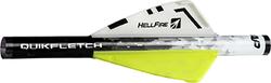 NAP Quikfletch Hellfire White/Yellow/Yellow 2 in. 6 pk.
