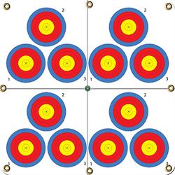 Arrowmat XL Foam Target Face Multi 3-Spot 34x34 in.