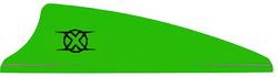 Bohning Shield Cut X Vanes Neon Green 1.75 in. 100 pk.