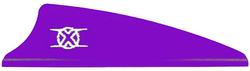 Bohning Shield Cut X Vanes Purple 1.75 in. 100 pk.