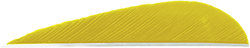 Trueflight Parabolic Feathers Yellow 3 in. LW 100 pk