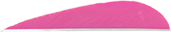 Trueflight Parabolic Feathers Pink 3 in. LW 100 pk