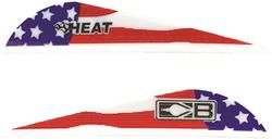 Bohning Heat American Flag Vane 36 pk.