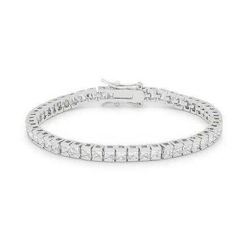 Princess Cubic Zirconia Tennis Bracelet