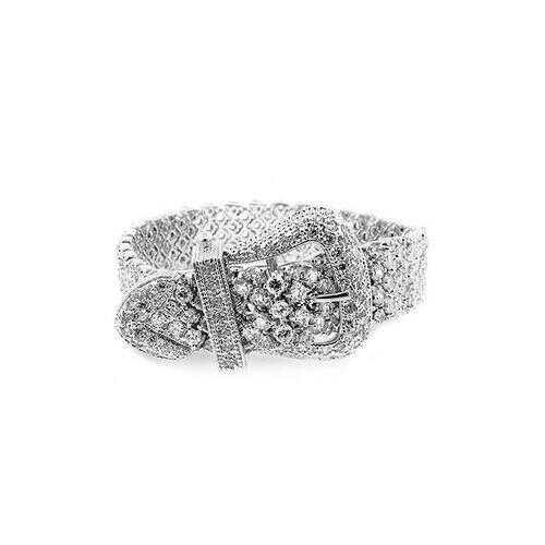 Cubic Zirconia Buckle Bracelet