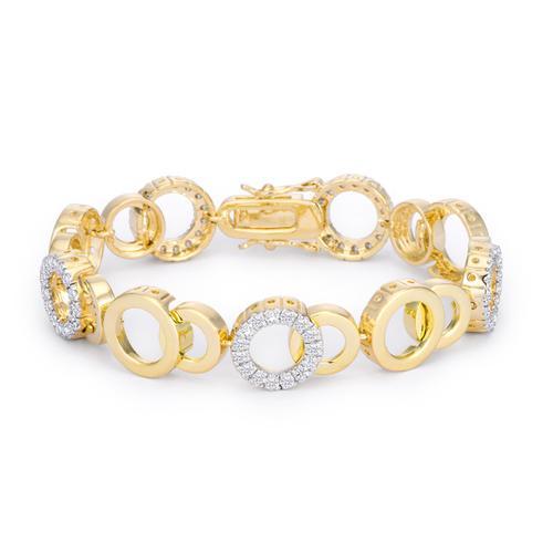 Circle Bijoux 7 Inch Two Tone Bracelet