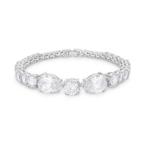 Elegant Pear and Round Cubic Zirconia Tennis Bracelet