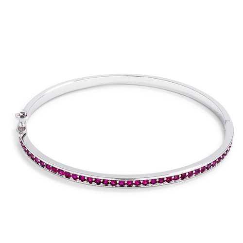 Fuchsia CZ Bangle Bracelet