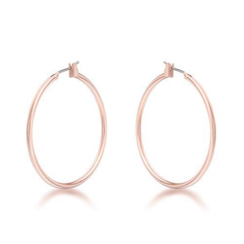 Elegant Rosegold Hoop Earrings