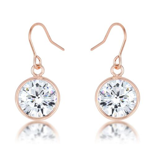 5.5 Ct Rose Gold CZ Drop Earrings