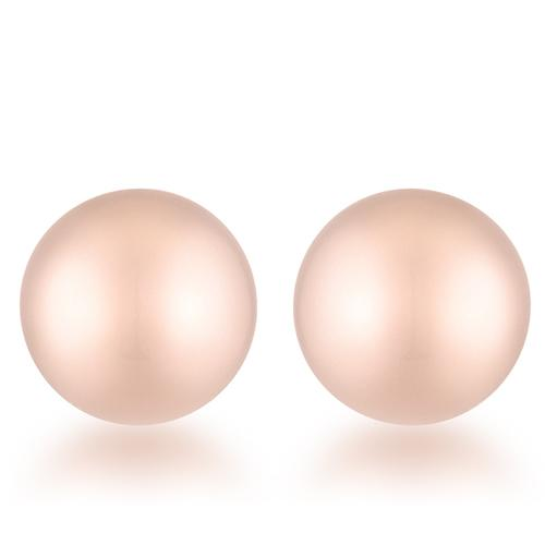 Julia Rose Gold Sphere Stud Earrings